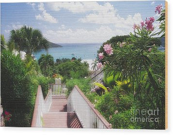 Stairs To Paradise Wood Print by George Oze
