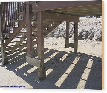Stairs To The Beach Wood Print