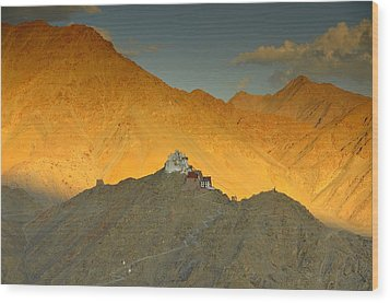 Stairs To Tsemo Wood Print by Aaron Bedell