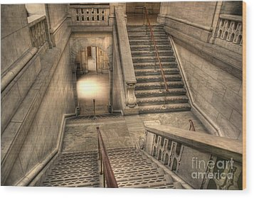 Stairs Up And Down Wood Print by David Bearden
