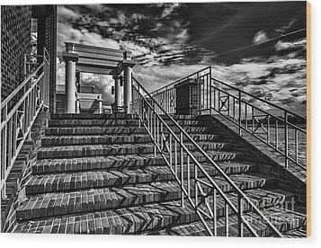 Stairway At Montgomery Museum Of Fine Arts Wood Print