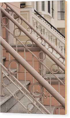 Stairway Detail Wood Print by Denice Breaux