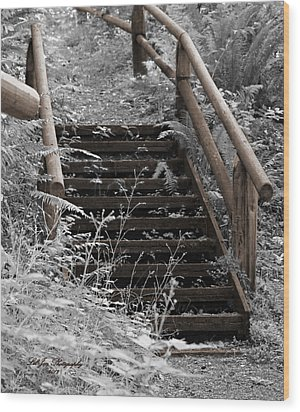 Wood Print featuring the photograph Stairway Home by Jeanette C Landstrom