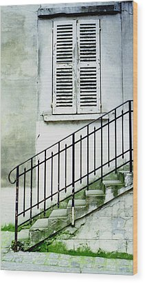 Wood Print featuring the photograph Stairway In Paris by Mary Bedy