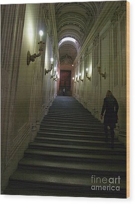 Wood Print featuring the photograph Stairway  by Robin Maria Pedrero