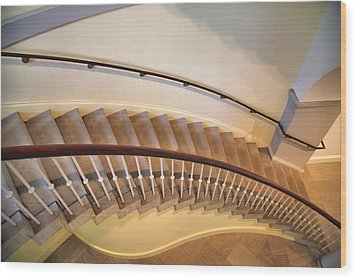 Stairway Study IIi Wood Print by Steven Ainsworth