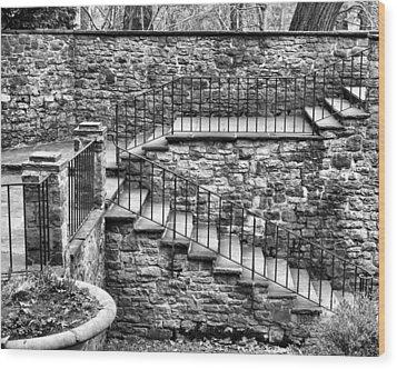 Stairway Wood Print by Tim Buisman