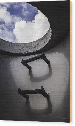 Wood Print featuring the photograph Stairway To Heaven - Inside Out by Steven Milner