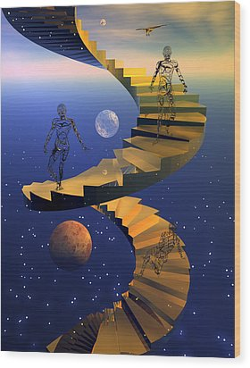 Stairway To Imagination Wood Print by Claude McCoy