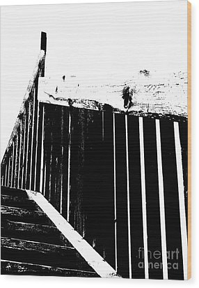 Stairway To Wood Print by Jim Rossol