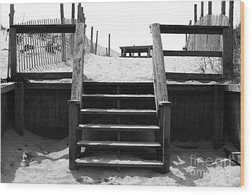 Stairway To Lbi Heaven Wood Print by John Rizzuto