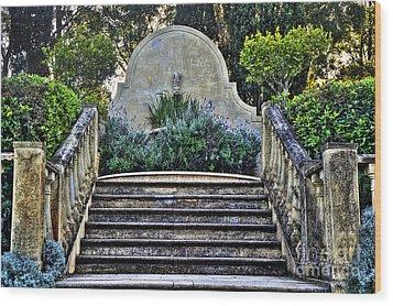 Stairway To Nowhere Wood Print by Kaye Menner