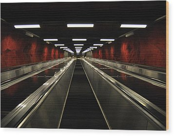 Stairway To Red Wood Print by Frederico Borges
