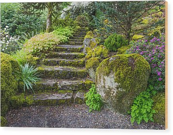 Stairway To The Secret Garden Wood Print