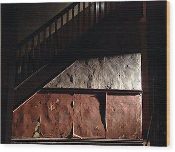 Stairwell Wood Print by H James Hoff