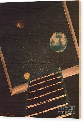 Stairwell To Heaven Wood Print