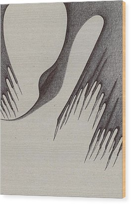 Wood Print featuring the drawing Stalactites Overhead by Giuseppe Epifani