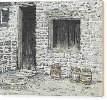 Stale Ale Wood Print by Dan Haley