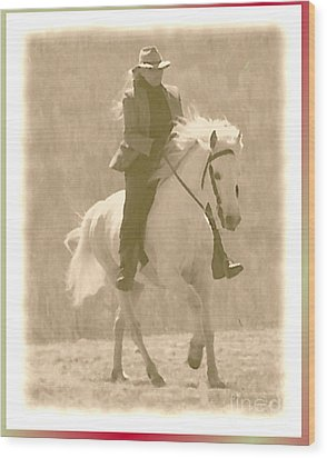 Stallion Strides Wood Print by Patricia Keller