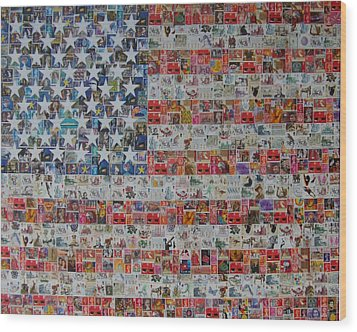 Stamps And Stripes Renegade Colony Wood Print by Gary Hogben