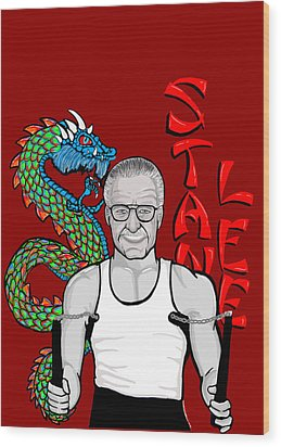 Stan Lee Wood Print by Gary Niles