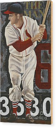 Stan Musial Wood Print by Terry  Hester
