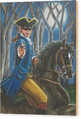 Stand And Deliver Wood Print by Beth Clark-McDonal
