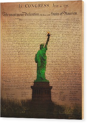 Stand Up For Freedom Wood Print by Bill Cannon
