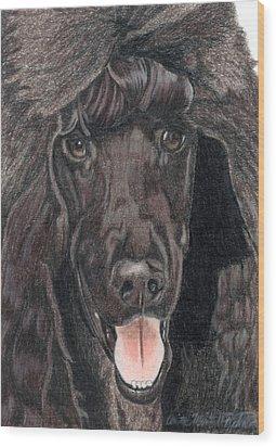 Standard Poodle Vignette Wood Print