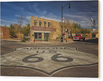 Standing On The Corner In Winslow Arizona Dsc08854 Wood Print