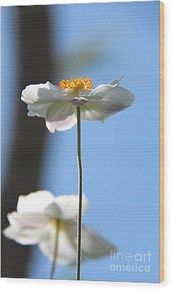 Standing Proud Wood Print by Karin Ubeleis-Jones