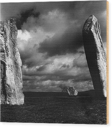 Standing Stones Avebury Wood Print by Mark Preston
