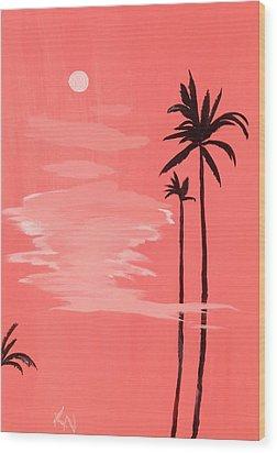 Standing Tall Wood Print by Karen Nicholson