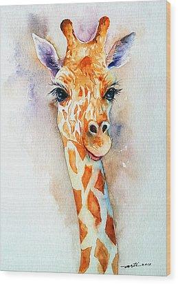 Standing Tall_giraffe Wood Print