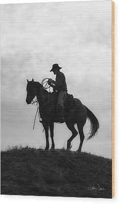 Standing Watch 2013 Wood Print