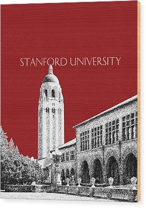 Stanford University - Dark Red Wood Print