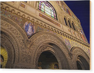 Stanford University Memorial Church Faith Wood Print by Scott McGuire