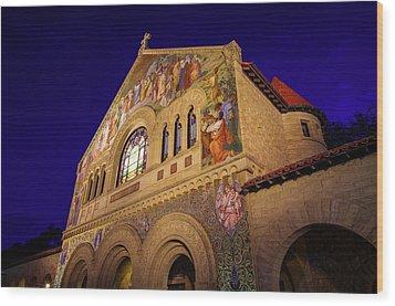Stanford University Memorial Church Wood Print by Scott McGuire