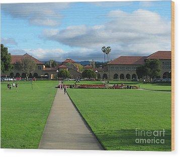 Stanford University Wood Print