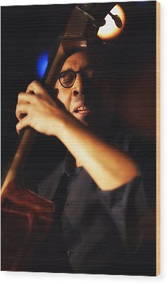 Stanley Clarke Wood Print by Dailey Pike