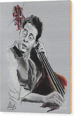 Stanley Clarke Wood Print by Melanie D