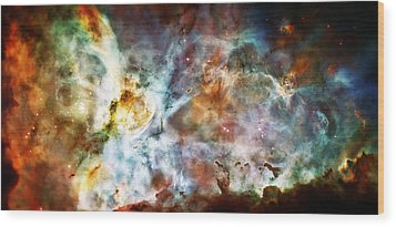Star Birth In The Carina Nebula  Wood Print