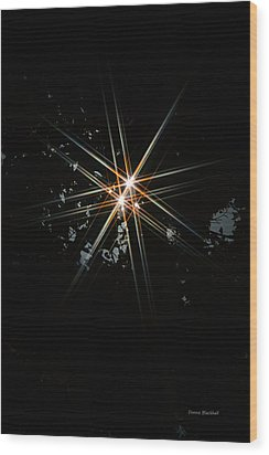 Star Bright Wood Print by Donna Blackhall