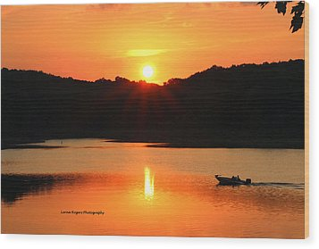 Wood Print featuring the photograph Star Burst Sunset by Lorna Rogers Photography