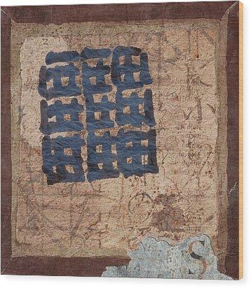Star Chart Faded Wood Print by Carol Leigh
