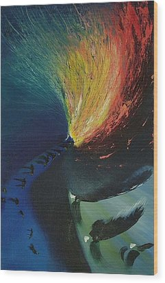 Star Wood Print by Christopher Bennett