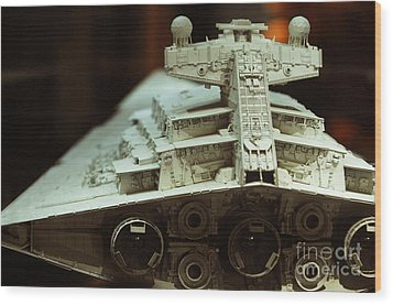 Star Destroyer Maquette Wood Print by Micah May