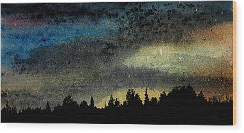 Star Filled Sky Wood Print by R Kyllo