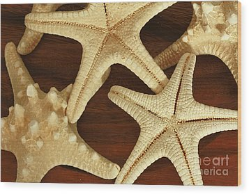 Star Fish Wood Print by Inspired Nature Photography Fine Art Photography