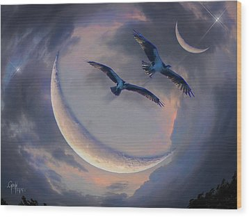 Star Flight Wood Print by Glenn Feron